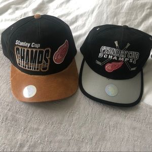 DETROIT RED WINGS Authentic StanleyCup Locker Hats